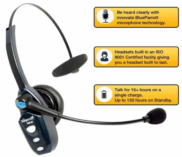 Best Bluetooth Headsets For Truckers With Noise Canceling Mic