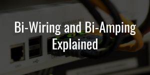 Bi wiring and bi amping explained