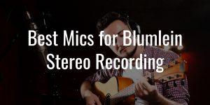 Blumlein recording mics
