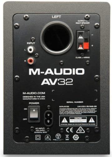 M-Audio AV32 backside view