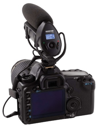 Shure VP83F attached to DSLR