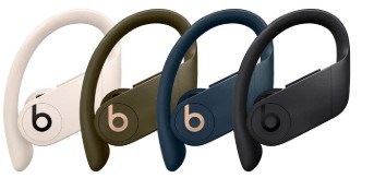 Various colors available with Powerbeats