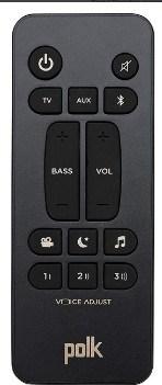 Polk Audio Signa S2 Ultra-Slim TV Sound Bar remote