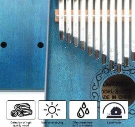 Apelila 17 Key Kalimba design