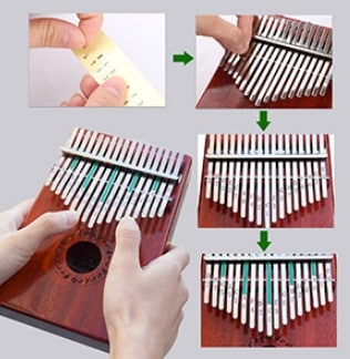 Gecko Kalimba easy to use and practice