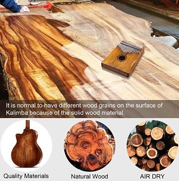 Newlam Kalimba Thumb Piano 17 keys  build and design