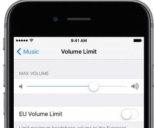 Iphone volume limit
