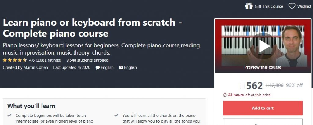 Learn piano or keyboard from scratch - Complete piano course