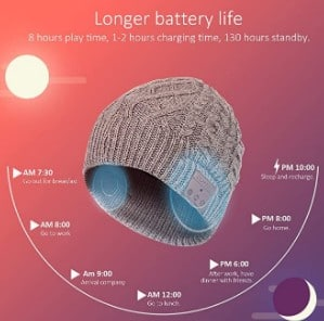 Blueear Hat battery life