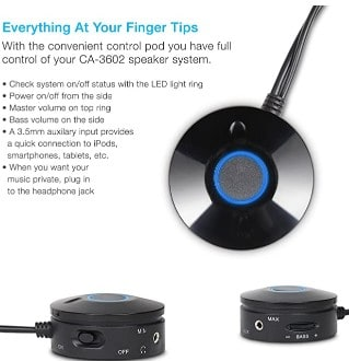 Cyber Acoustics CA-3602FFP 2.1 Speaker Sound System Sound quality