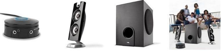 Cyber Acoustics CA-3602FFP 2.1 Speaker Sound System features