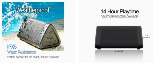 OontZ Angle 3 Bluetooth Portable Speaker features
