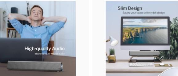 TaoTronics Computer Speakers Sound quality