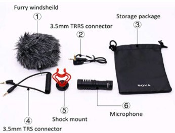 Boya by-MM1 On Camera mic  connectivity options